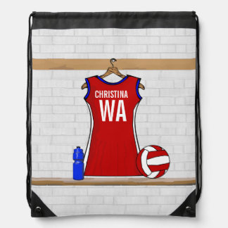 Personalised Netball uniform Drawstring Bag