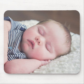 Personalised New Baby Boy Photo Mouse Pad