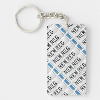 Personalised NewReg Keyring Single-Sided Rectangular Acrylic Key Ring