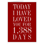 Personalised Number of Days I've Loved You Card
