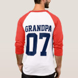 Personalised Number Sports Jersey Grandpa T-Shirt