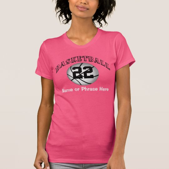 Personalised Numbered Womens Basketball Tshirts