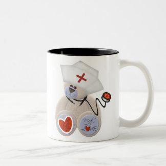 Personalised Nurse Teddy Bear Mug