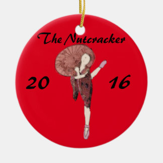 Personalised Nutcracker Ornament- Chinese Round Ceramic Decoration