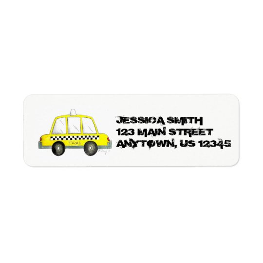 Personalised NYC Yellow Taxi Chequered Cab New