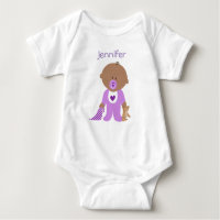 African american baby gifts gift ideas zazzle uk personalised one piece tee with your babys name negle Choice Image