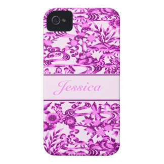 Personalised oriental Bird and leaves pattern Case-Mate Blackberry Case