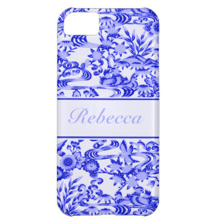 Personalised oriental Bird and leaves pattern iPhone 5C Cover