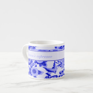 Personalised oriental Bird and leaves pattern Espresso Mug