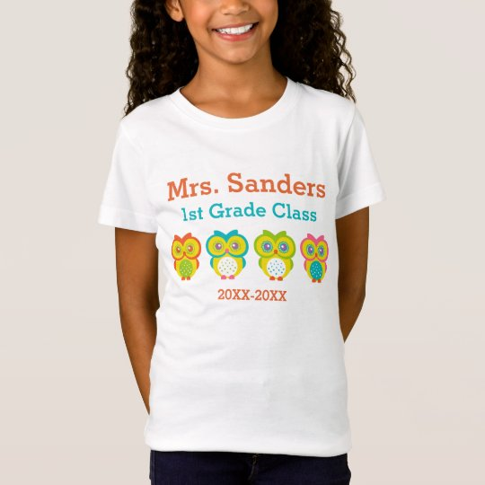 Personalised Owl Classroom T-Shirt