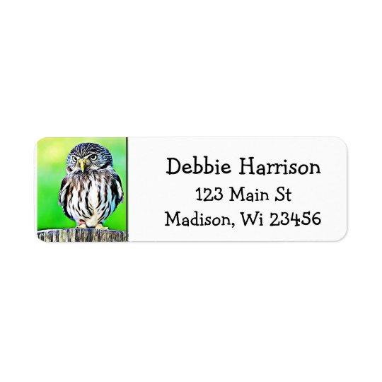 Personalised Owl Return Address Labels