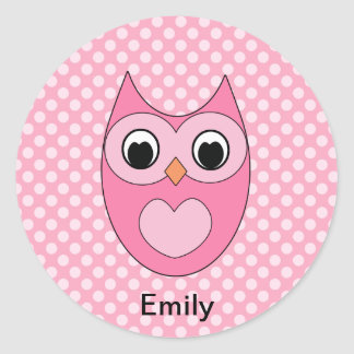 Personalised Owl Stickers for Kids