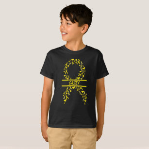 Personalised Paediatrics Cancer Awareness Ribbon T-Shirt