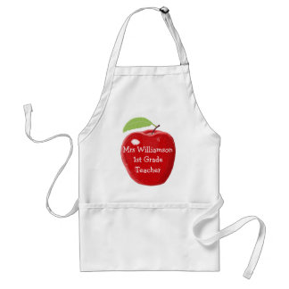 Personalised Painted Apple For Teacher Standard Apron