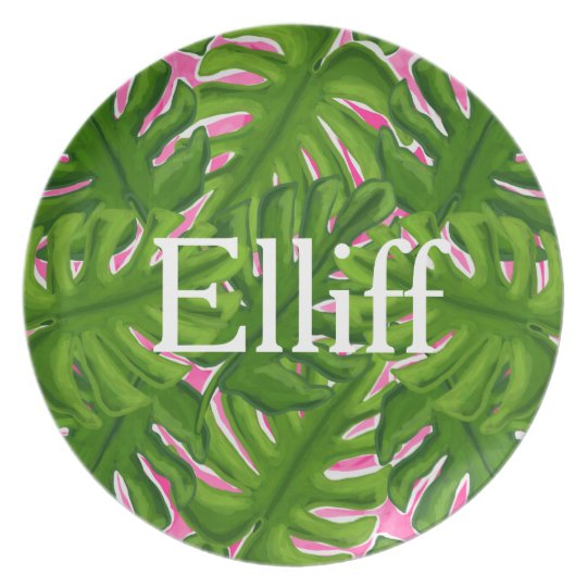 Personalised Palm Tree Plate