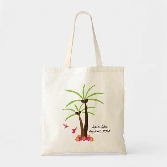 Personalised Palm Tree Tote