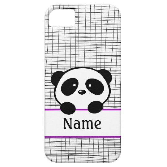 Personalised Panda Bear Purple iPhone 5 Case