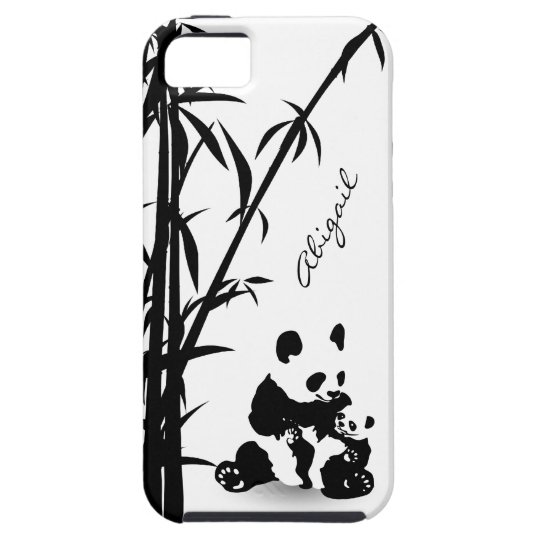 Personalised Panda Bears and Bamboo iPhone 5 Case