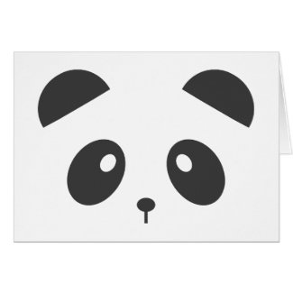 Personalised panda card