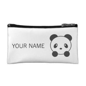 Personalised panda cosmetic bag