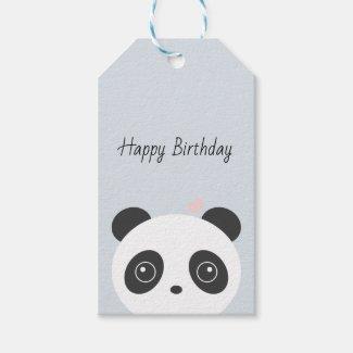 Personalised panda gift tags