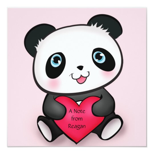 Personalised Panda Invite Card 4 Cute Panda Lovers