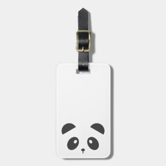 Personalised panda luggage tag