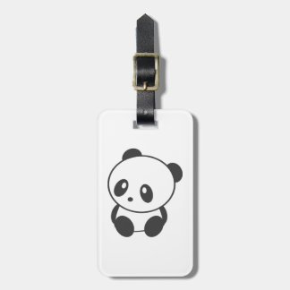 Personalised panda luggage tag