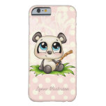 Personalised panda pink polkadots iPhone 6 case Barely There iPhone 6 Case