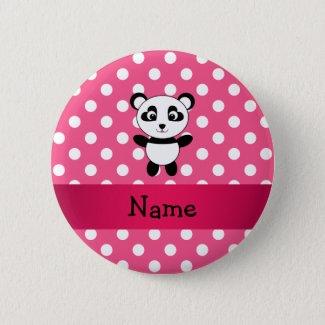 Panda polka dot badge