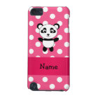 Personalised panda pink white polka dots iPod touch (5th generation) case