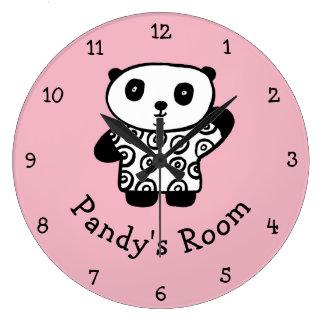 Personalised Pandy the Panda Large Clock