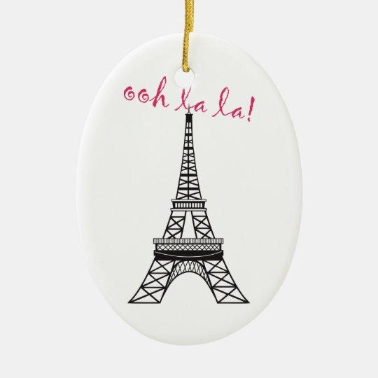 Personalised Paris Eiffel Tower Christmas Ornament