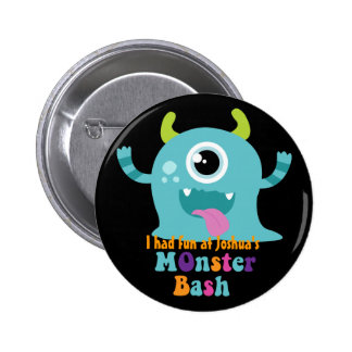 Personalised Party Badge - Blue Monster