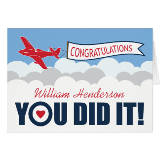 PERSONALISED PASSING OUT PARADE | BRITISH RAF GREETING CARD