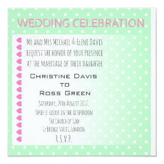 Personalised pastel and modern wedding invitation