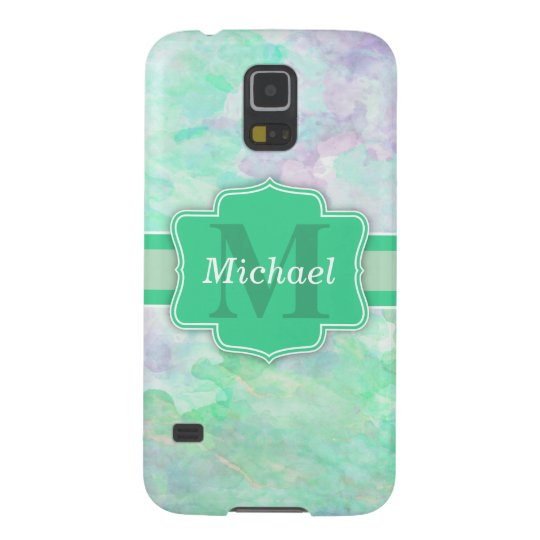 Personalised Pastel Watercolors Name and Monogram Galaxy S5 Case