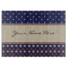 Personalised Patriotic American Stars and Stripes Cutting Board