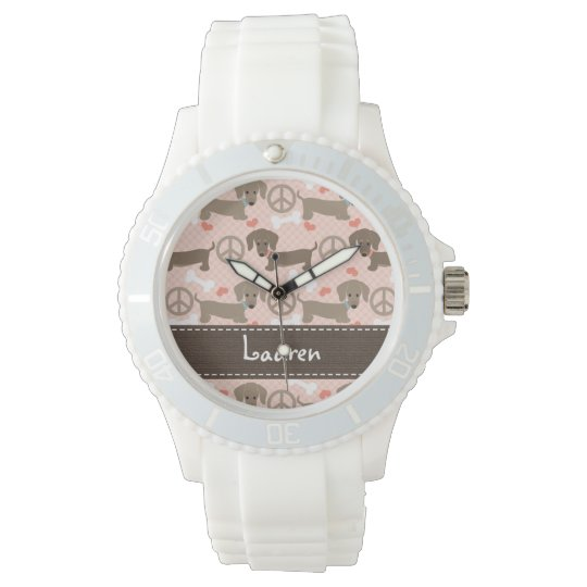 Personalised Peace Love Doxie Watch