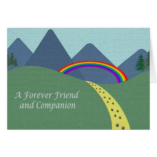 Personalised Pet Bereavement Sympathy Card