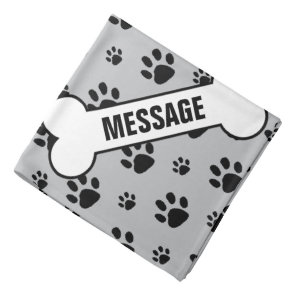 Personalised Pet Custom Bandana