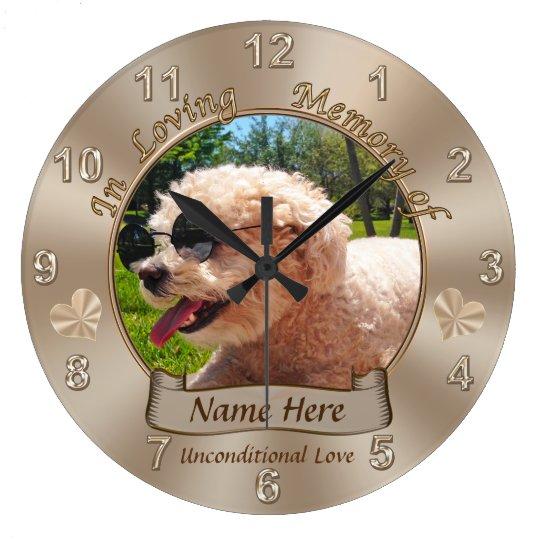 Personalised Pet Memorial Gifts Name, Photo Clock