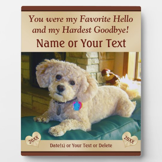 Personalised Pet Memorial Plaques with PHOTO