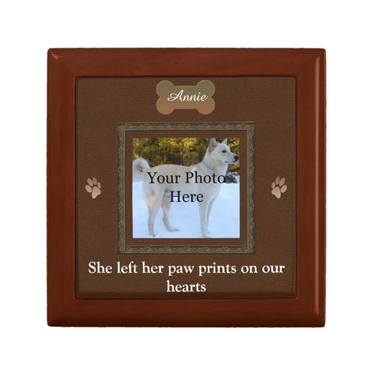 Personalised Pet Memorial Small Square Gift Box