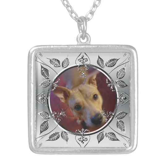 Personalised Pet Photo Frame Memorial Keepsake Silver Plated