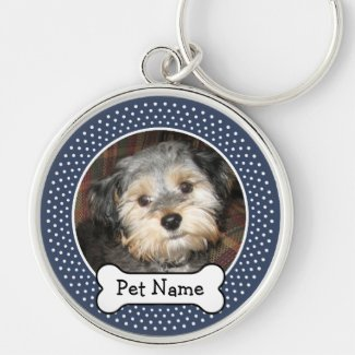 Personalised Pet Photo with Dog Bone Keyring