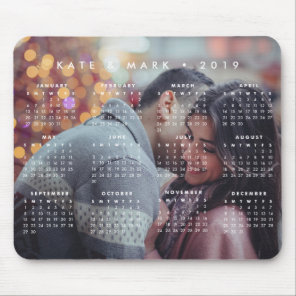 Personalised Photo 2019 Calendar Mouse Mat