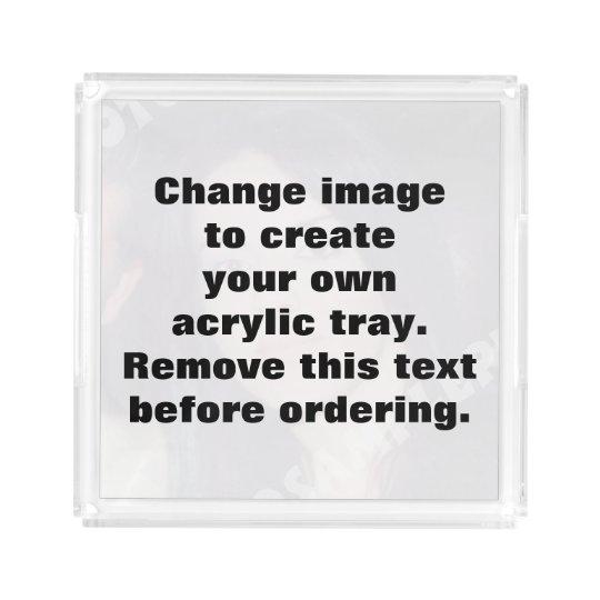 Personalised photo acrylic tray. Make your own! Acrylic