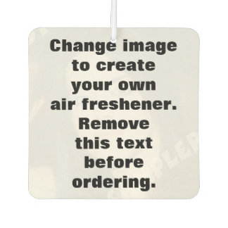 Personalised photo air freshener. Make your own!