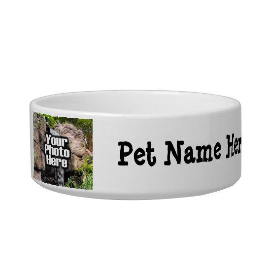 Personalised Photo and Name Custom Pet Bowl Dish